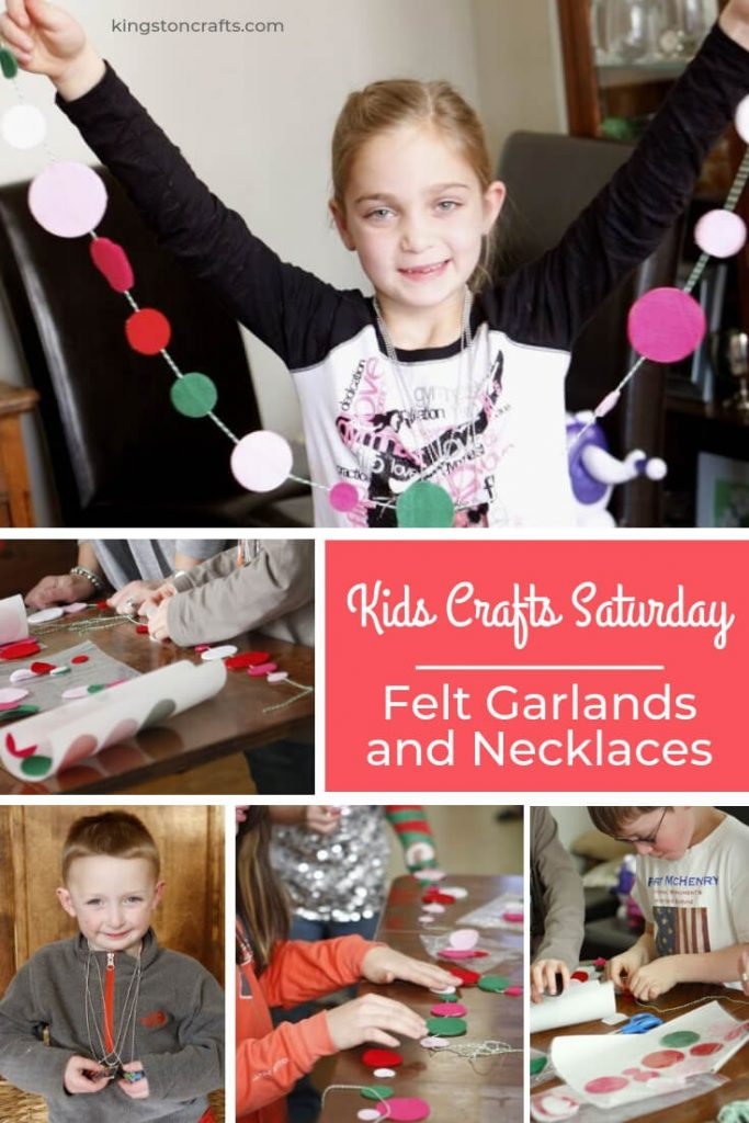 Kids Crafts Saturday – Felt Garlands and Necklaces - Kingston Crafts