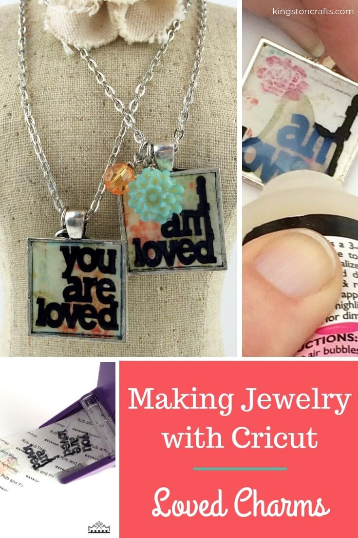 Cricut Jewelry: Making Jewelry with Cricut - Loved Charms
