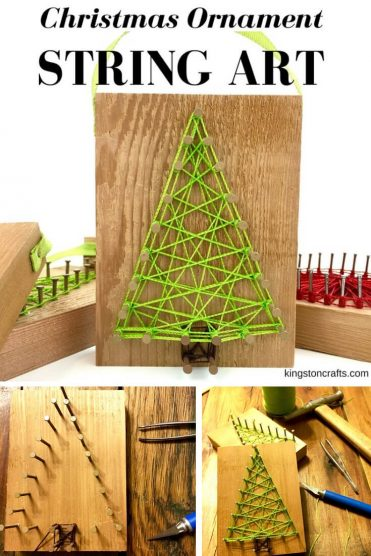 Reclaimed Christmas String Art Ornaments – and FREE printable pattern - Kingston Crafts