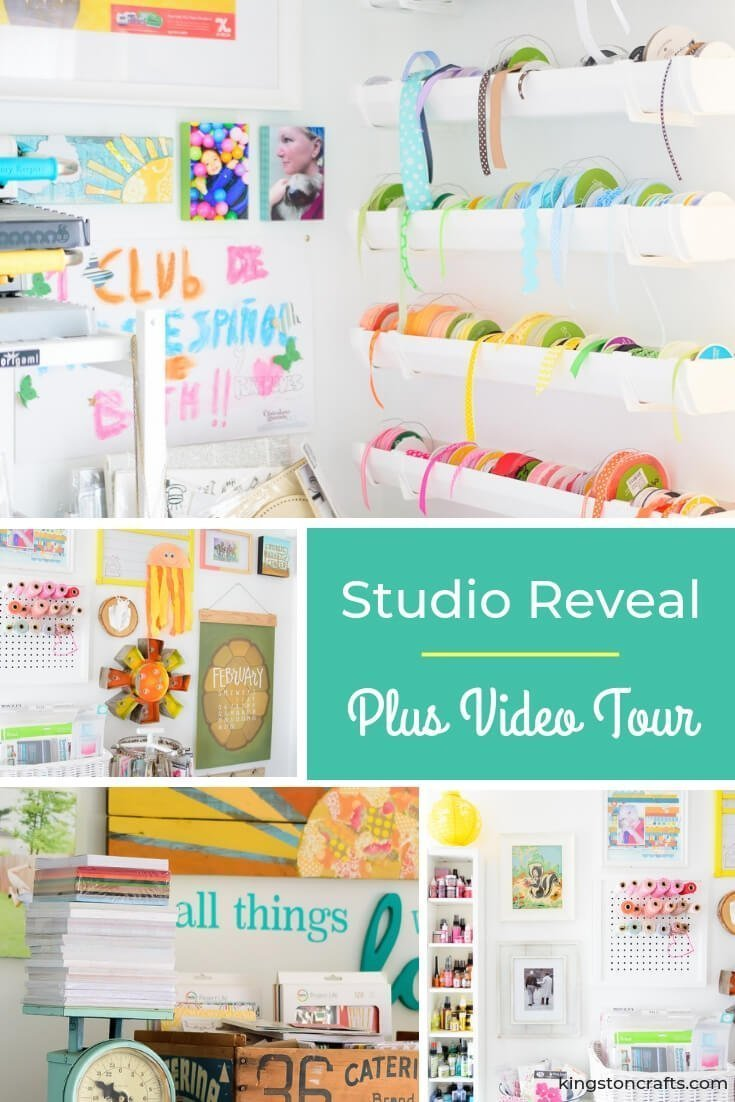 Studio Reveal and Video Tour - Kingston Crafts