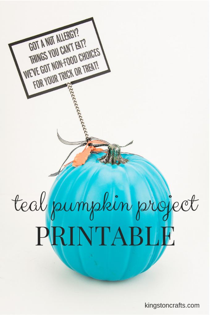 It is a photo of Shocking Teal Pumpkin Printable
