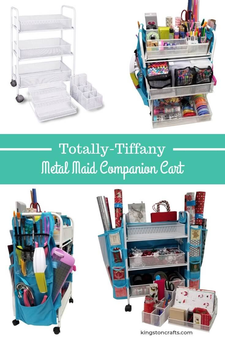 Totally Tiffany Metal Maid Companion Cart - Kingston Crafts