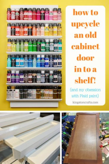 Upcycled Shelf From a Cabinet Door - Kingston Crafts