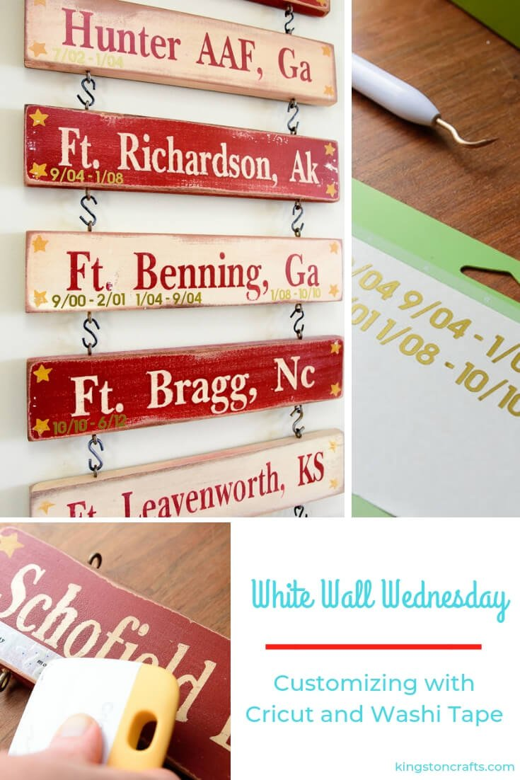 White Walls Wednesday – Customizing with Cricut and Washi Tape - Kingston Crafts