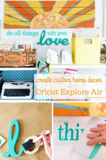 Wood Words + Cricut Explore Air = Custom Wall Art - Kingston Crafts