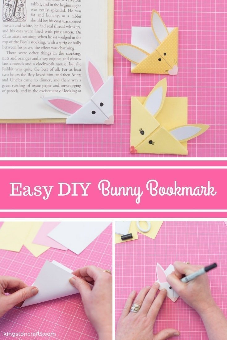 Easter Ideas for Kids: DIY Bunny Bookmark