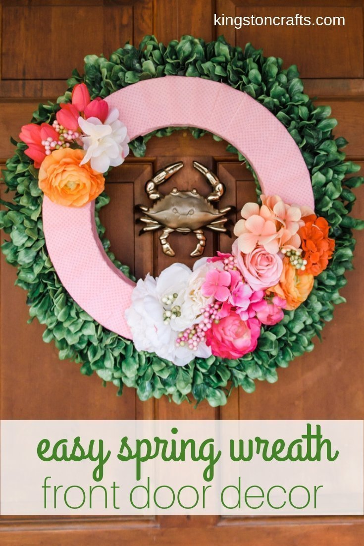 Easy Spring Wreath: Front Door Decor