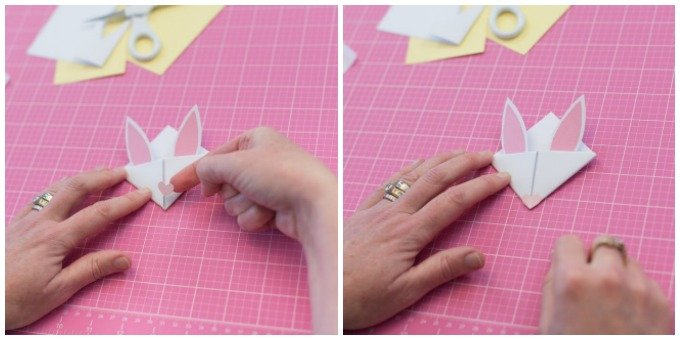 use a pink pen or a heart sticker to create a nose