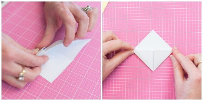 tuck in white cardstock triangle and make pocket