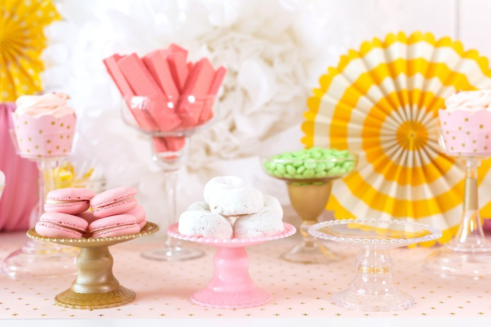 Mini cupcake stands painted assorted colors for dessert buffet or candy table - Kingston Crafts