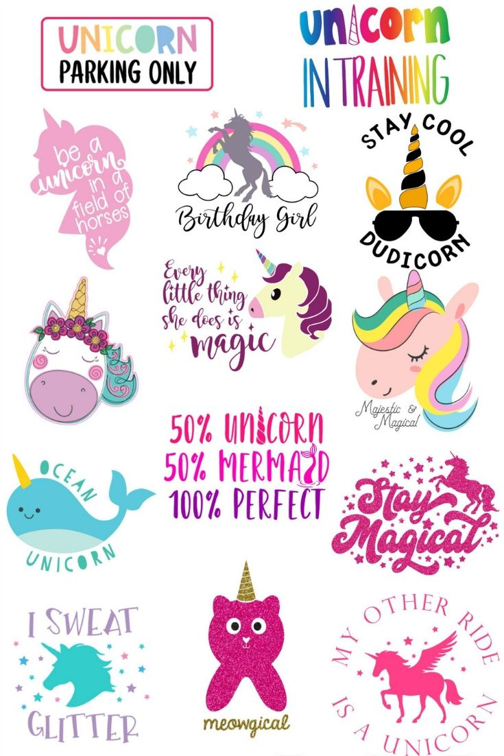 16 Free Unicorn SVG Files