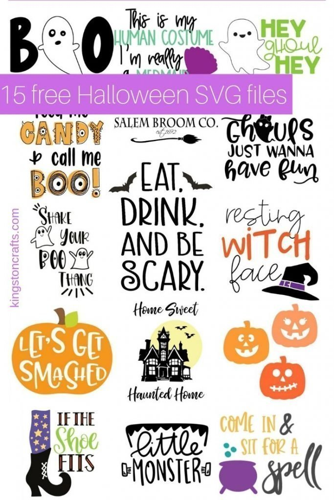 images of 15 Halloween SVG files