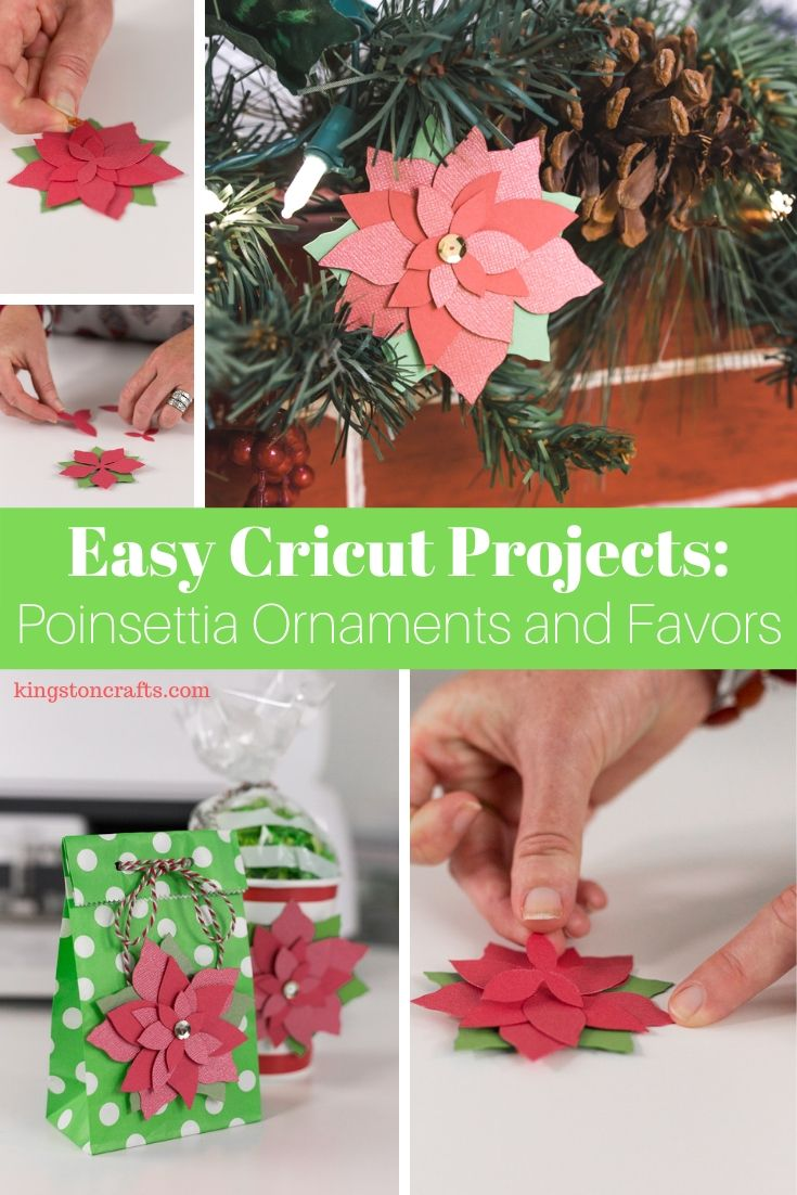 Easy Cricut Projects: Poinsettia Ornament