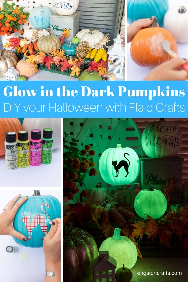 Pumpkin Craft Ideas: Glow In The Dark Paint