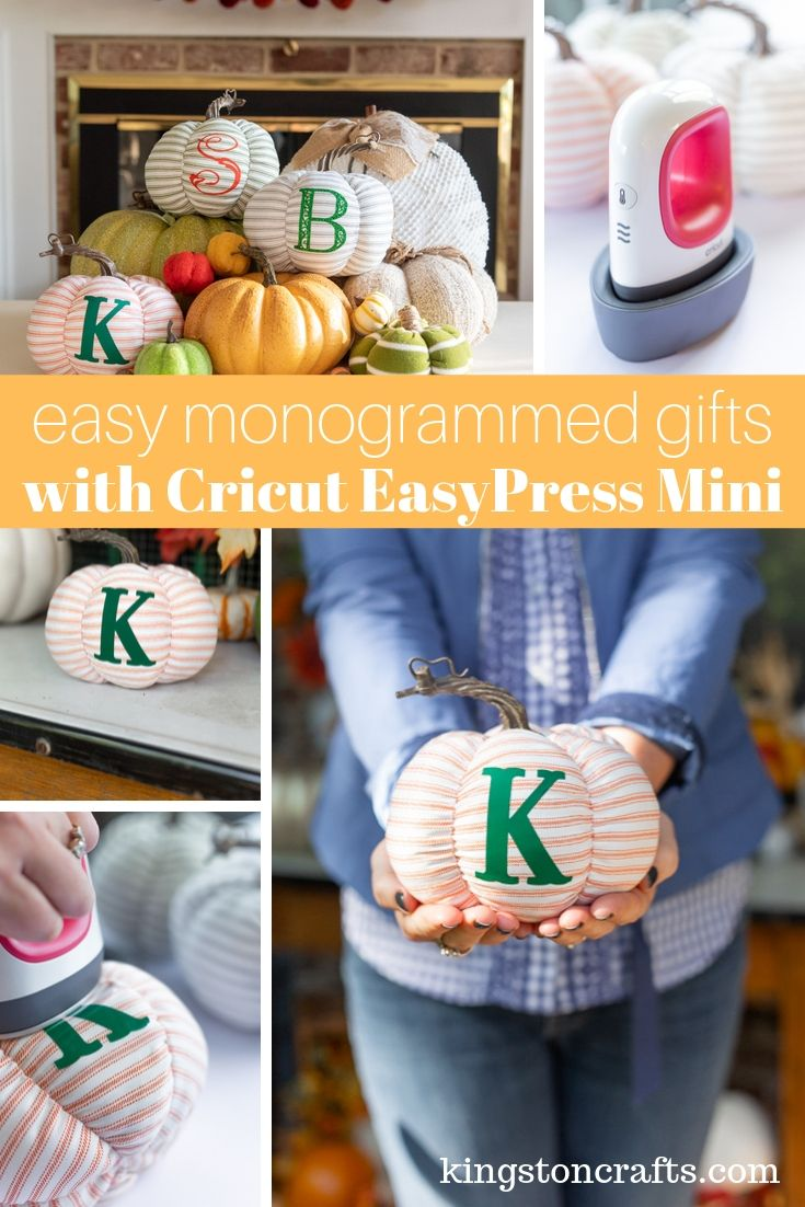 Easy Monogrammed Gifts: Fabric Pumpkins with Cricut EasyPress Mini
