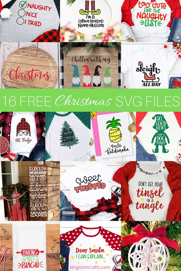 16 Free SVG Files for Christmas