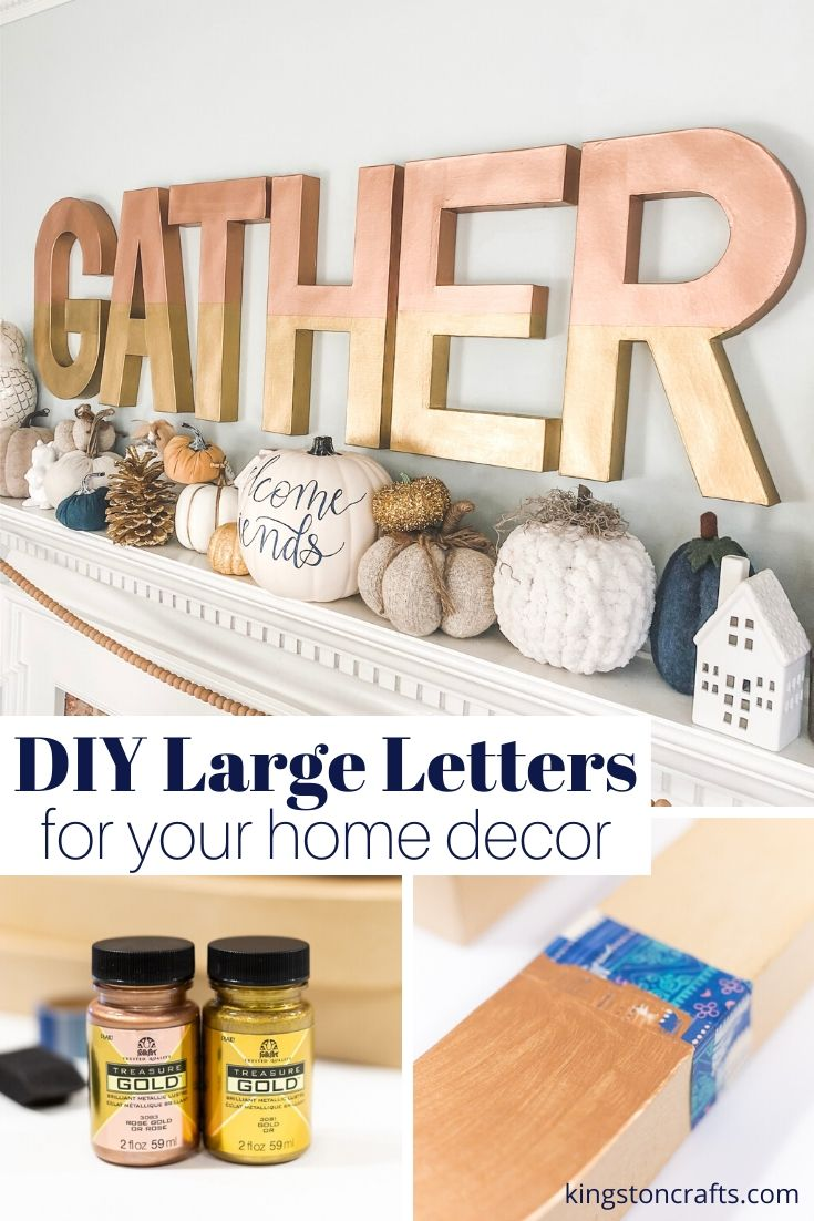 DIY Large Letters for Your Home Decor