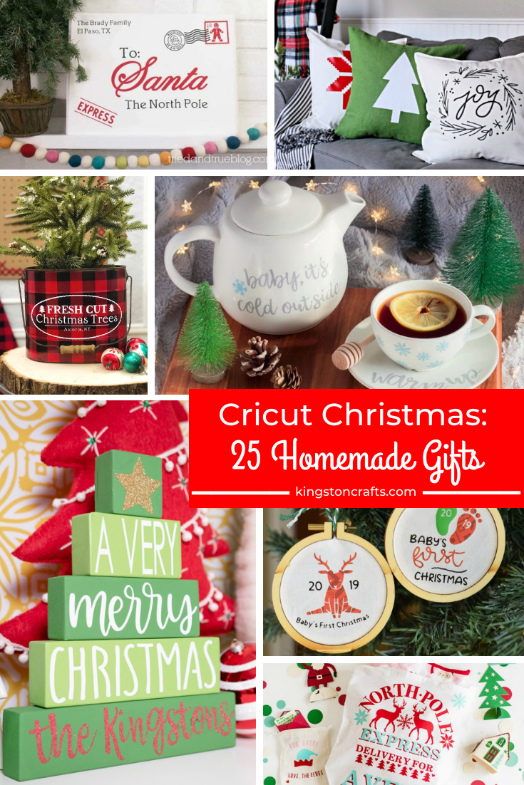 Cricut Christmas: 25 Homemade Gifts