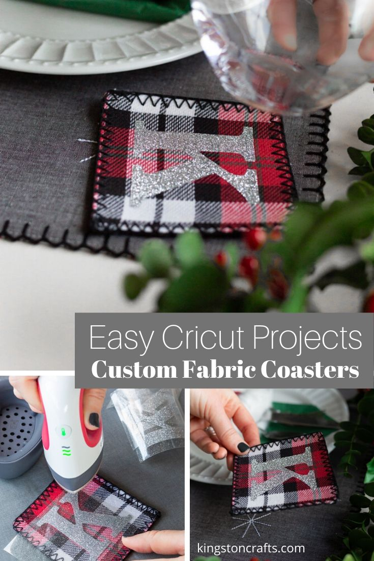 Easy Cricut Projects: Custom Fabric Coasters